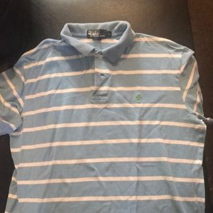 Carolina blue white stripe polo shirt